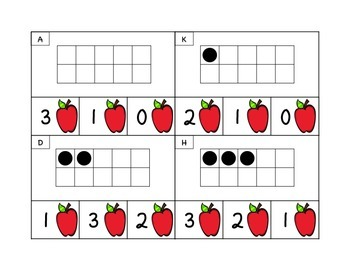 Back to School Clip and Poke Math Center Cards 0-20 (Sample)