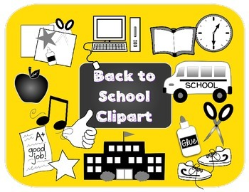 Back to School Clipart for Commercial Use {Featured on You Doodle App!}