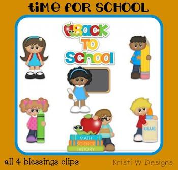 Back to School Clipart Clip Art Digital Graphics ~ Kids Kiddos Students ~ Cu Ok