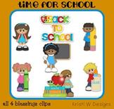Back to School Clipart Clip Art Digital Graphics ~ Kids Ki