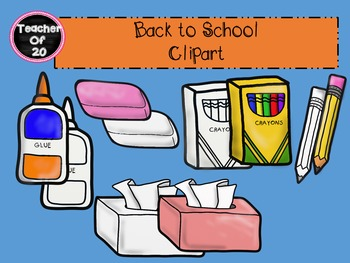 Back to School Clipart #backwithboom