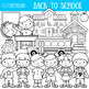 Back to School Clipart, Color and Black and White Clip Art