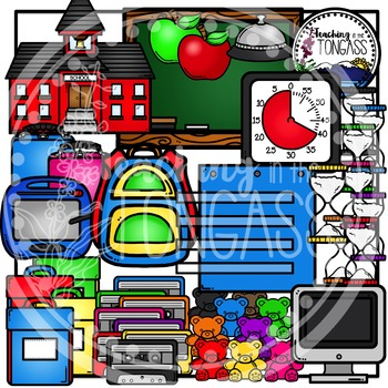 Back to School Supplies Clipart 1