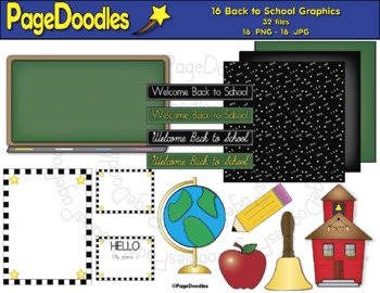 Back to School Clipart Bundle, for TPT Sellers - High Quality Vector Graphics