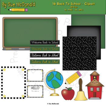 Back to School Clipart Bundle - High Quality Vector Graphics