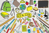 Back to School Clipart - Creative, Math, Books, School Illustrations