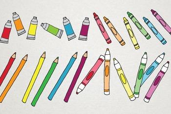 Back to School Clipart - Creative, Math, Books, School Illustrations
