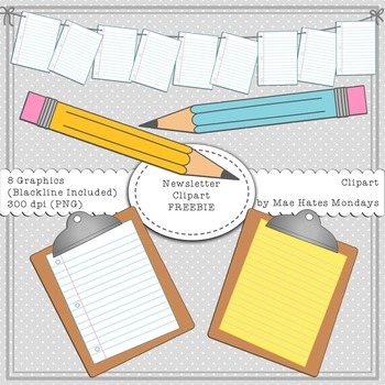 Newsletter Clipart - Freebie