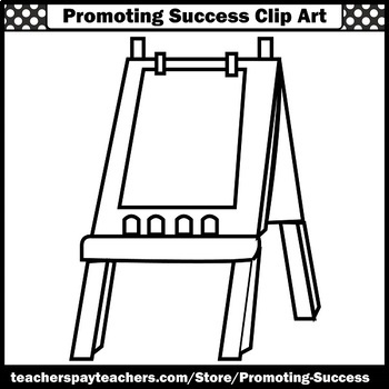 Back to School Clipart, Teacher Easels, Art Clip Art For Commercial Use SPS