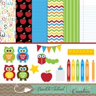 Back to School Clipart & Background BUNDLE