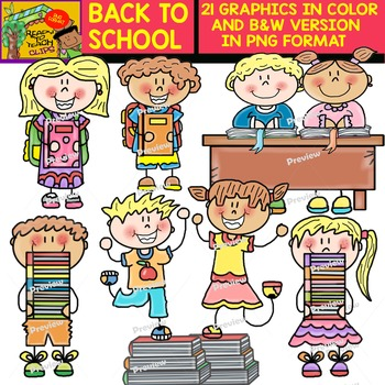 Back to School Cliparts - Set 2