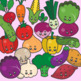 Back to School: Clips Clipart - Kawaii Style (Vegetables)