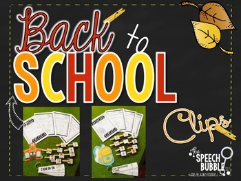 Back to School Clips: Pre-K to 2nd Grade