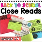Back to School Close Reading {Gr. 2-4} #markdownmonday