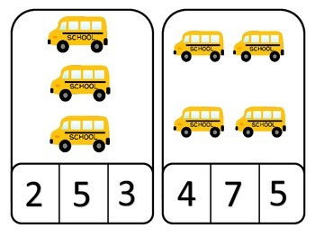 Back to School Clothespin Counting Math Cards; Kindergarten; Special Education