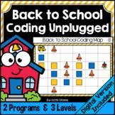 Back to School Coding Unplugged | Printable & Digital