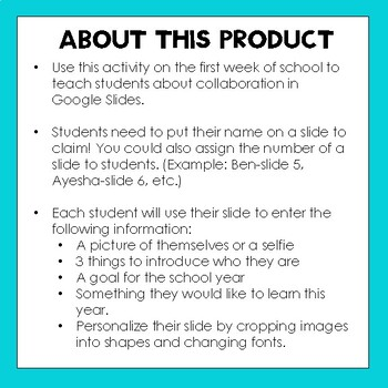 Back to School Collaboration Activity- Google Slides