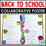 Back to School Collaborative Activity All About Me Posters