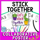 Back to School Collaborative Poster!  Cactus - Team Work Activity