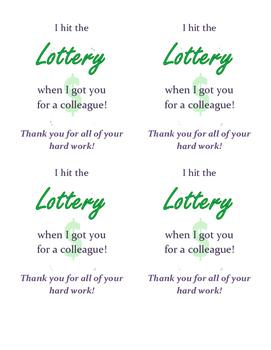 Back to School Colleague Thank You/Appreciation Notes