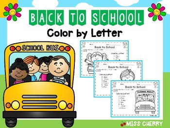 Back to School Color By Letter