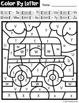 Back to School Color By Letter {PRINT & GO}