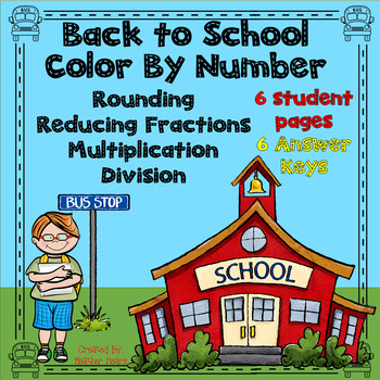 Back to School Color By Number