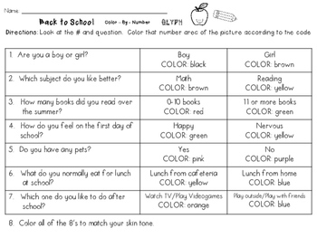 Back to School Color-By-Number Glyph