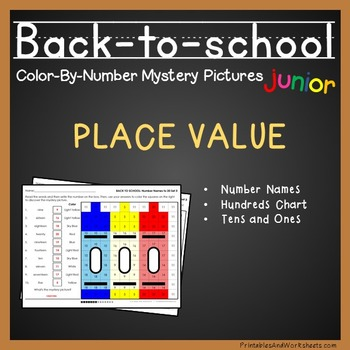 Back-to-School Color-By-Number: Place Value (K-2)