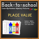 Math Coloring Place Value, Back To School Math Activities For Grade 1, K-2