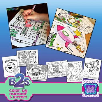 Back to School Color By Number and Letter Activities