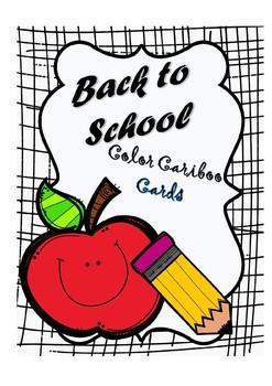 Back to School Color Cariboo Cards FREEBIE