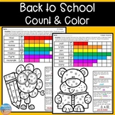 Back to School Color & Count for Articulation & Language