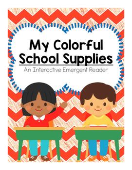 Back to School Color Emergent Reader