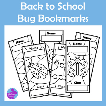 Back to School Color Your Own Bugs Insects Bookmarks Library