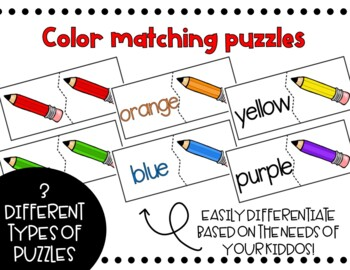 Back-to-School Color Matching Puzzles Busy Box