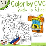 Back to School Color by CVC Word