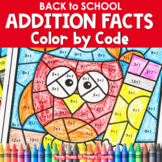 Back to School | Color-by-Code Addition | Color by Number