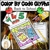 Back to School Color by Code Glyphs