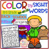 Back to School Color by Code -Sight Words Third Grade