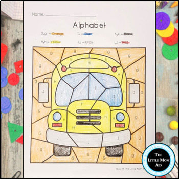 Back to School Color by Letter | Alphabet Coloring Pages