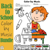 Back to School Music Coloring Pages | Color by Note and Sy