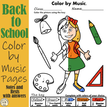 Back  to School Color by Notes and Rests
