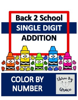 ea8b6c7a Back to School Color by Number by Four By Grace | TpT