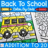 Back to School Color by Number Addition to 20