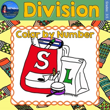 Division Math Practice Back to School Color by Number