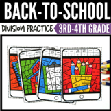 Back to School Color by Number Division Task Cards
