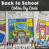 Back to School Color by Number Multiplication Facts
