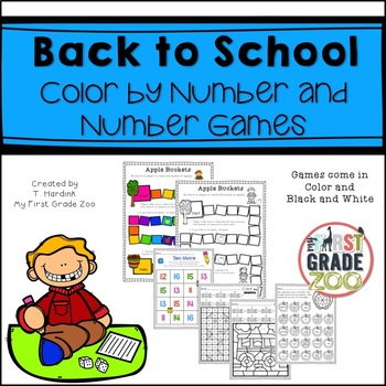 Back to School - Color by Number and Number Games