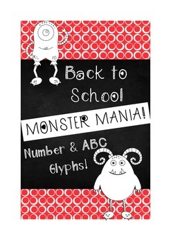 Back to School Glyphs- Color by Number/ABCs Glyphs